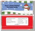 Frosty the Snowman - Personalized Christmas Candy Bar Wrappers thumbnail