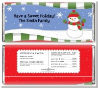 Frosty the Snowman - Personalized Christmas Candy Bar Wrappers