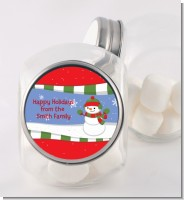 Frosty the Snowman - Personalized Christmas Candy Jar