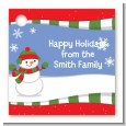 Frosty the Snowman - Personalized Christmas Card Stock Favor Tags thumbnail