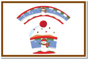 Frosty the Snowman - Christmas Cupcake Wrappers