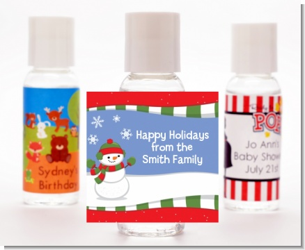 Frosty the Snowman - Personalized Christmas Hand Sanitizers Favors