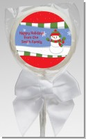 Frosty the Snowman - Personalized Christmas Lollipop Favors
