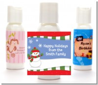 Frosty the Snowman - Personalized Christmas Lotion Favors