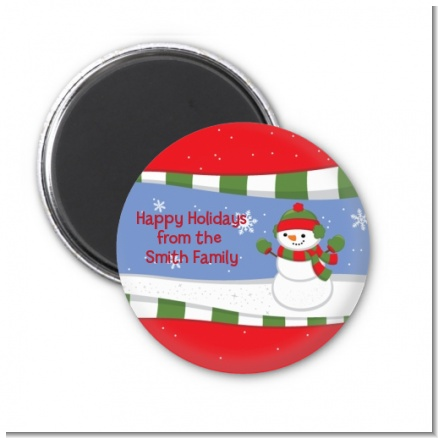 Frosty the Snowman - Personalized Christmas Magnet Favors
