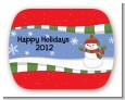 Frosty the Snowman - Personalized Christmas Rounded Corner Stickers thumbnail