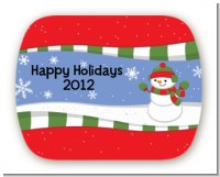 Frosty the Snowman - Personalized Christmas Rounded Corner Stickers