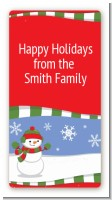 Frosty the Snowman - Custom Rectangle Christmas Sticker/Labels