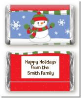 Frosty the Snowman - Personalized Christmas Mini Candy Bar Wrappers