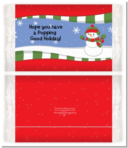 Frosty the Snowman - Personalized Popcorn Wrapper Christmas Favors