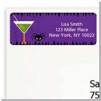 Funky Martini - Halloween Return Address Labels