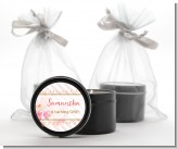 Fun to be One - 1st Birthday Girl - Birthday Party Black Candle Tin Favors