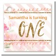 Fun to be One - 1st Birthday Girl - Personalized Birthday Party Card Stock Favor Tags thumbnail