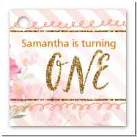 Fun to be One - 1st Birthday Girl - Personalized Birthday Party Card Stock Favor Tags