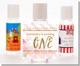 Fun to be One - 1st Birthday Girl - Personalized Birthday Party Hand Sanitizers Favors