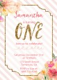 Fun to be One - 1st Birthday Girl - Birthday Party Invitations thumbnail