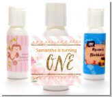 Fun to be One - 1st Birthday Girl - Personalized Birthday Party Lotion Favors