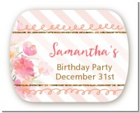 Fun to be One - 1st Birthday Girl - Personalized Birthday Party Rounded Corner Stickers