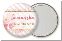 Fun to be One - 1st Birthday Girl - Personalized Birthday Party Pocket Mirror Favors