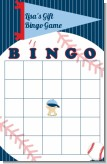 Future Baseball Player - Baby Shower Gift Bingo Game Card