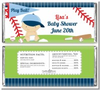 Future Baseball Player - Personalized Baby Shower Candy Bar Wrappers