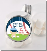 Future Baseball Player - Personalized Baby Shower Candy Jar