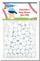Future Baseball Player - Custom Baby Shower Treat Bag Topper