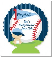 Future Baseball Player - Personalized Baby Shower Centerpiece Stand