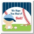 Future Baseball Player - Square Personalized Baby Shower Sticker Labels thumbnail