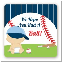 Future Baseball Player - Square Personalized Baby Shower Sticker Labels