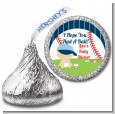 Future Baseball Player - Hershey Kiss Baby Shower Sticker Labels thumbnail