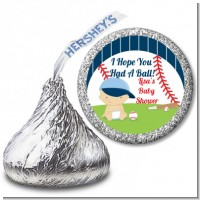 Future Baseball Player - Hershey Kiss Baby Shower Sticker Labels