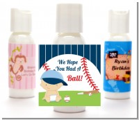 Future Baseball Player - Personalized Baby Shower Lotion Favors