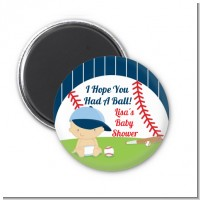 Future Baseball Player - Personalized Baby Shower Magnet Favors