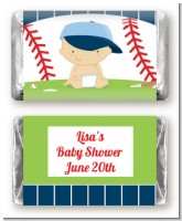 Future Baseball Player - Personalized Baby Shower Mini Candy Bar Wrappers
