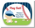Future Baseball Player - Personalized Baby Shower Rounded Corner Stickers thumbnail
