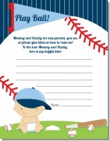 Future Baseball Player - Baby Shower Notes of Advice