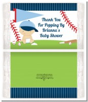Future Baseball Player - Personalized Popcorn Wrapper Baby Shower Favors