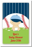 Future Baseball Player - Custom Large Rectangle Baby Shower Sticker/Labels