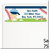 Future Baseball Player - Baby Shower Return Address Labels