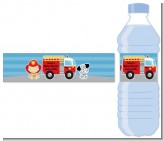 Future Firefighter - Personalized Baby Shower Water Bottle Labels