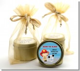 Future Firefighter - Birthday Party Gold Tin Candle Favors