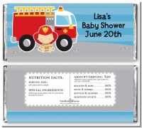 Future Firefighter - Personalized Baby Shower Candy Bar Wrappers