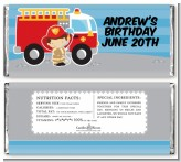 Future Firefighter - Personalized Birthday Party Candy Bar Wrappers