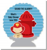 Future Firefighter - Personalized Baby Shower Centerpiece Stand