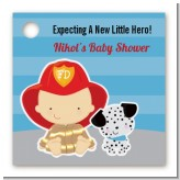 Future Firefighter - Personalized Baby Shower Card Stock Favor Tags