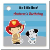 Future Firefighter - Personalized Birthday Party Card Stock Favor Tags