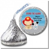 Future Firefighter - Hershey Kiss Baby Shower Sticker Labels