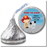 Future Firefighter - Hershey Kiss Birthday Party Sticker Labels
