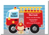 Future Firefighter - Baby Shower Petite Invitations